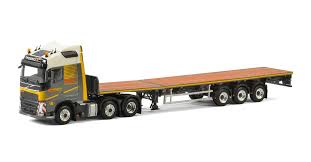 volvo trailer wsi friderici volvo fh4 with flat bed trailer