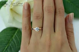 1 carat engagement rings 1 carat 4 prong engagement ring solitaire ring made
