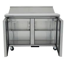 48 inch sandwich prep table used tssu 48 12 hc 48 sandwich salad prep table w refrigerated base 115v