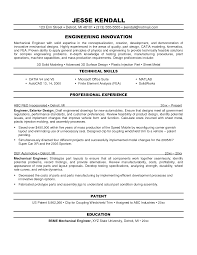 Sample Civil Engineering Resume Entry Level Resume Samples For Design Engineers Mechanical