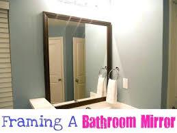 Bathroom Mirror Frame Kit Bathroom Mirror Frames Bothrametals