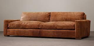 Chestnut Leather Sofa Maxwell Rh