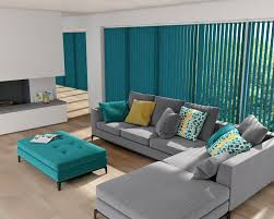 vertical blinds by louvolite shot silk teal for the home