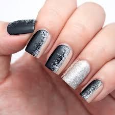 easy nail art glitter matte black nude glitter nail art tutorial manicure ideas