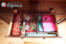 Organize Gift Wrap - gift wrapping ideas how to organize