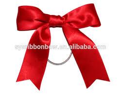 ribbons and bows pre satin ribbon bow with elastic loop pre satin ribbon