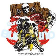 Blind Skate Logo Blind Skateboards Blind Gonz Skull U0026 Banana Premium T Shirt