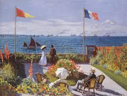 Paris Flag Other Jardin Sainte Adresse Monet Colored Colorful Flag Painting