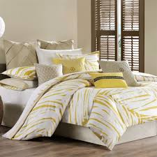 yellow and gray bedding grey yellow king quilt cover set by deco