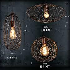 foshan mingze 1 light modern oval cage pendant light copper and