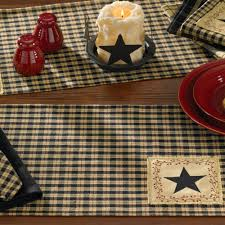 country kitchen table star patch placemat