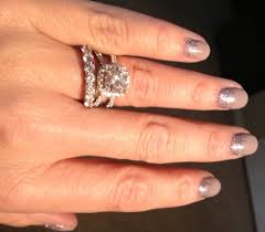 eternity ring finger much bling with eternity band