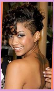 short shaved and curly hairstyle for women amazing shaved