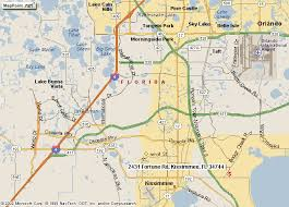 map of kissimmee fortune road church of in kissimmee fl