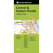 folded maps central u0026 eastern florida