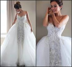 mermaid wedding dresses with detachable skirt wedding