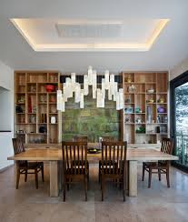 Contemporary Lighting Fixtures Dining Room Tanzania Fused Glass Dining Room Chandelier Custom Light Fixture
