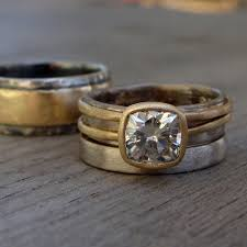 artisan wedding rings forever brilliant moissanite mcfarland designs