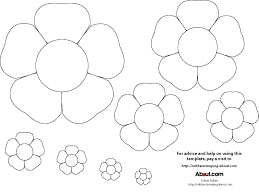 best photos of flower patterns to cut out paper flower templates