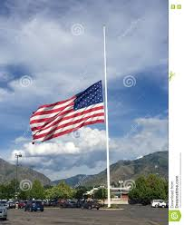 Mass Flag American Flag At Half Staff Stock Photo Image 72917252