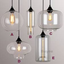 Industrial Glass Pendant Lights Modern Fashion Industrial Glass Shade Loft Cafe Pendant Light