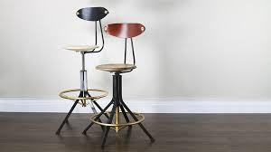 siege reglable en hauteur chaise de bar contemporaine à hauteur réglable en bois de