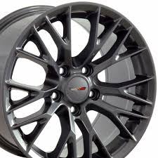 corvette zo6 rims 17 gunmetal corvette c7 z06 style wheels set of 4 rims fits