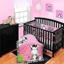 Zebra Bed Set Brand New Baby Boom I Zebra 3 Crib Bedding Set Pink