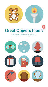 objects icons creative tail