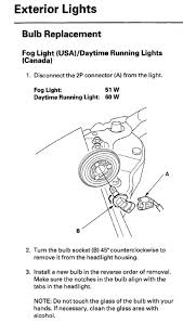 how to change fog light bulbs on u002704 u002706 tl acurazine acura