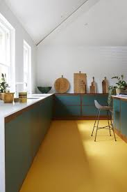 oak kitchen cabinets yellow walls 25 catchy and bold blue and yellow kitchens digsdigs