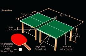 what size is a regulation ping pong table ping pong table dimensions official table tennis table dimensions on
