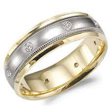 mens two tone gold wedding bands s two tone gold wedding band style 9905 the