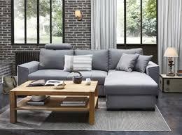 canape loft taupe canapé gris et table basse en bois déco salons