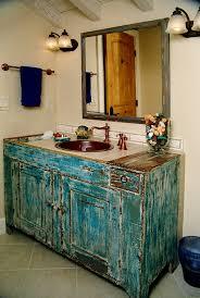 Rustic Bathroom Vanities For Sale Dry Sink Vanity Powder Room Rustic With Copper Bowl Sink Copper