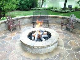 Firepit Plans Backyard Pit Ideas Built In Pit Backyard Pit Ideas