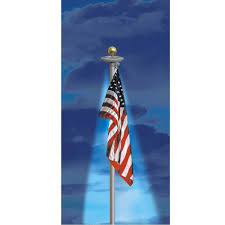 Flag Pole Lights Solar Powered Dixie Flag Texas Anthem U S Flag U0026 Solar Light Flagpole Set