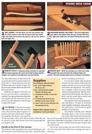 titanic deck chair plans u2022 woodarchivist