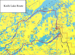 Rap Map Knife Lake Route Clearwater Historic Lodge