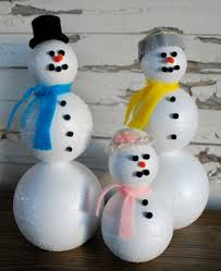 snowman made out of styrofoam balls and toothpicks search