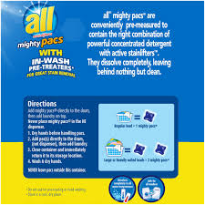 all mighty pacs stainlifter laundry detergent 72 loads 50 oz