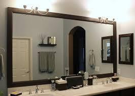 framing a bathroom mirror with crown molding bathroom decor