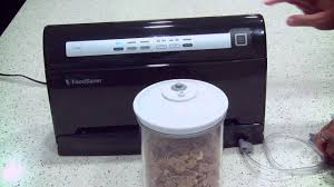 foodsaver v3440 vacuum sealer how to vacuum a container youtube