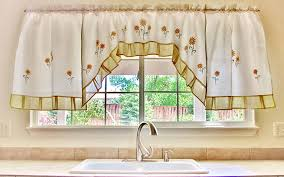 Sunflower Valance Kitchen Curtains by Using Sunflower Kitchen Curtains U2014 Romantic Bedroom Ideas