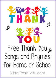 Preschool Songs For Thanksgiving Free Thank You Songs And Rhymes For Home Or Manners