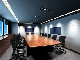 photo of high end commercial conference room with triple band