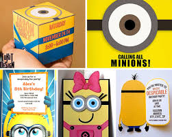 diy minion invitations minion party ideas birthday in a box despicable me party