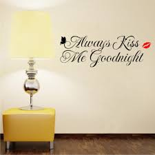 always kiss me goodnight wall decals vinyl home stickers bedroom