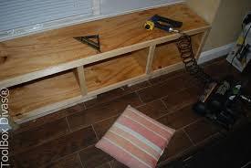 Built In Bench Seat With Storage Diy Window Bench Seat With Drawer Storage Hometalk