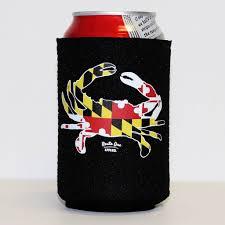 Calvert County Flag Black Maryland Flag Crab Koozie U2013 Route One Apparel
